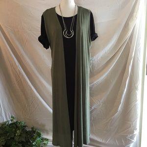 NEW! Lularoe Olive Green JOY Vest (XL)